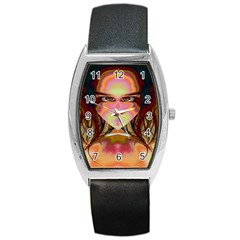 Cat Woman Tonneau Leather Watch by icarusismartdesigns