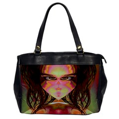 Cat Woman Oversize Office Handbag (one Side) by icarusismartdesigns