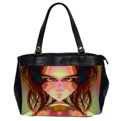 Cat Woman Oversize Office Handbag (two Sides) by icarusismartdesigns