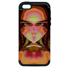 Cat Woman Apple Iphone 5 Hardshell Case (pc+silicone) by icarusismartdesigns