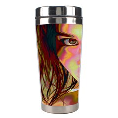 Cat Woman Stainless Steel Travel Tumbler by icarusismartdesigns