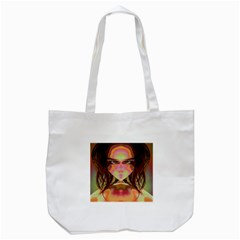 Cat Woman Tote Bag (white) by icarusismartdesigns