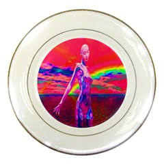 Cyborg Mask Porcelain Display Plate by icarusismartdesigns