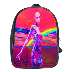 Cyborg Mask School Bag (large) by icarusismartdesigns
