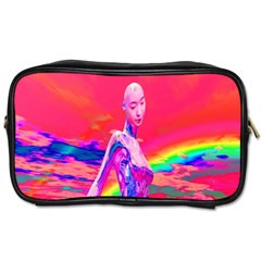 Cyborg Mask Travel Toiletry Bag (one Side) by icarusismartdesigns