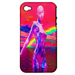 Cyborg Mask Apple Iphone 4/4s Hardshell Case (pc+silicone) by icarusismartdesigns