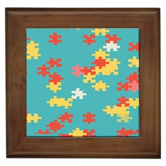 Puzzle Pieces Framed Ceramic Tile