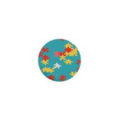 Puzzle Pieces 1  Mini Button Magnet