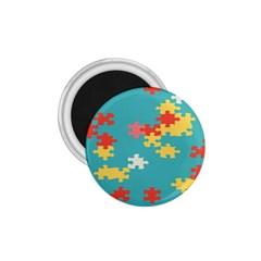 Puzzle Pieces 1 75  Button Magnet