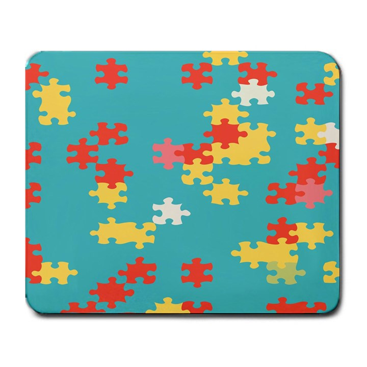 Puzzle Pieces Large Mouse Pad (Rectangle)
