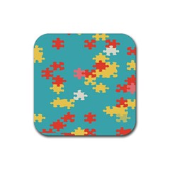Puzzle Pieces Drink Coasters 4 Pack (square) by LalyLauraFLM