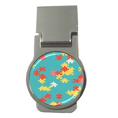 Puzzle Pieces Money Clip (round) by LalyLauraFLM