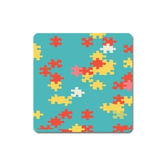 Puzzle Pieces Magnet (square) by LalyLauraFLM