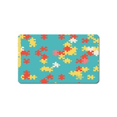 Puzzle Pieces Magnet (name Card)