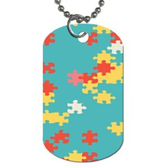 Puzzle Pieces Dog Tag (one Sided)