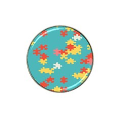 Puzzle Pieces Golf Ball Marker 10 Pack (for Hat Clip) by LalyLauraFLM