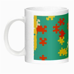 Puzzle Pieces Glow In The Dark Mug by LalyLauraFLM