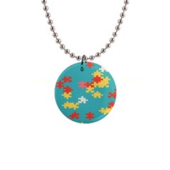 Puzzle Pieces Button Necklace by LalyLauraFLM