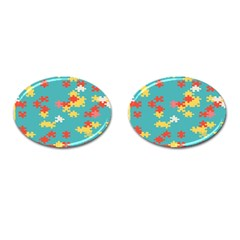 Puzzle Pieces Cufflinks (oval)