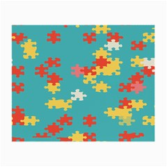 Puzzle Pieces Glasses Cloth (small, Two Sided) by LalyLauraFLM