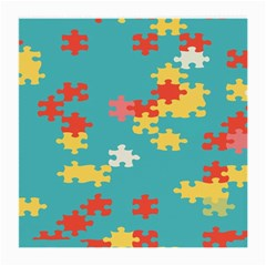 Puzzle Pieces Glasses Cloth (medium, Two Sided) by LalyLauraFLM
