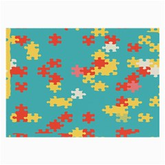 Puzzle Pieces Glasses Cloth (large, Two Sided)