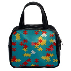 Puzzle Pieces Classic Handbag (two Sides)
