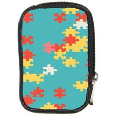 Puzzle Pieces Compact Camera Leather Case