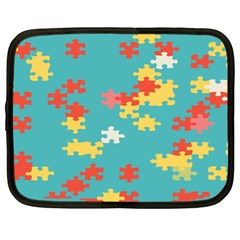 Puzzle Pieces Netbook Sleeve (xl) by LalyLauraFLM