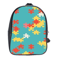 Puzzle Pieces School Bag (large)