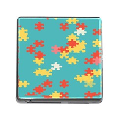 Puzzle Pieces Memory Card Reader With Storage (square) by LalyLauraFLM