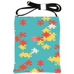 Puzzle Pieces Shoulder Sling Bag