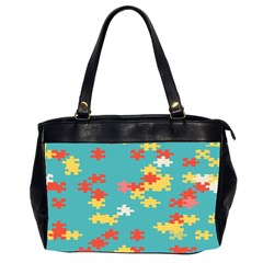 Puzzle Pieces Oversize Office Handbag (two Sides)