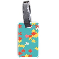 Puzzle Pieces Luggage Tag (two Sides)