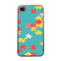 Puzzle Pieces Apple Iphone 4 Case (clear) by LalyLauraFLM