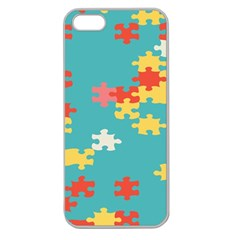 Puzzle Pieces Apple Seamless Iphone 5 Case (clear)