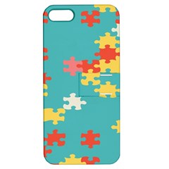 Puzzle Pieces Apple Iphone 5 Hardshell Case With Stand by LalyLauraFLM