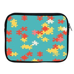 Puzzle Pieces Apple Ipad Zippered Sleeve by LalyLauraFLM