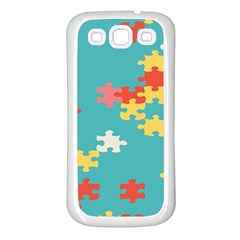 Puzzle Pieces Samsung Galaxy S3 Back Case (white) by LalyLauraFLM