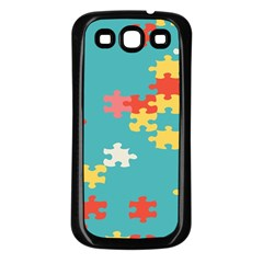 Puzzle Pieces Samsung Galaxy S3 Back Case (black) by LalyLauraFLM