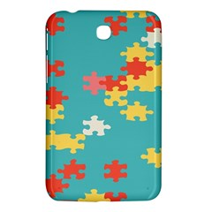 Puzzle Pieces Samsung Galaxy Tab 3 (7 ) P3200 Hardshell Case  by LalyLauraFLM
