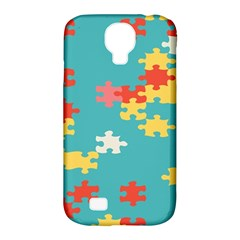 Puzzle Pieces Samsung Galaxy S4 Classic Hardshell Case (pc+silicone) by LalyLauraFLM