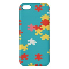 Puzzle Pieces Iphone 5s Premium Hardshell Case by LalyLauraFLM