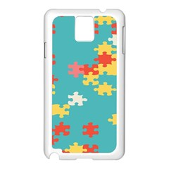 Puzzle Pieces Samsung Galaxy Note 3 N9005 Case (white)
