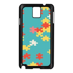 Puzzle Pieces Samsung Galaxy Note 3 N9005 Case (black) by LalyLauraFLM