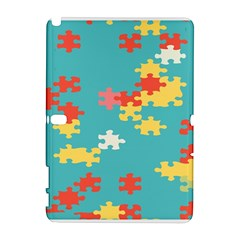 Puzzle Pieces Samsung Galaxy Note 10 1 (p600) Hardshell Case by LalyLauraFLM
