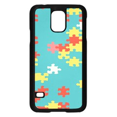 Puzzle Pieces Samsung Galaxy S5 Case (black) by LalyLauraFLM