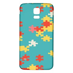 Puzzle Pieces Samsung Galaxy S5 Back Case (white) by LalyLauraFLM