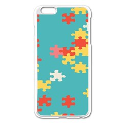 Puzzle Pieces Apple Iphone 6 Plus Enamel White Case