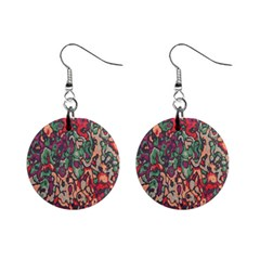 Color Mix 1  Button Earrings by LalyLauraFLM